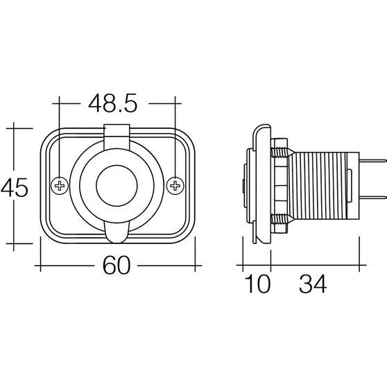 5V Dual USB Socket - 2.5 Amp, Flush Mount, , scaau_hi-res