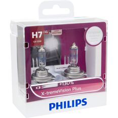 Philips Headlight Globe, X-tremeVision - H7, 55W, , scaau_hi-res