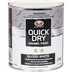 Quick Dry Enamel White 2 Litre, , scaau_hi-res