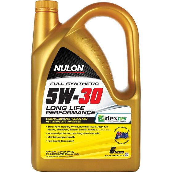 Nulon Full Synthetic Long Life Engine Oil - 5W-30 6 Litre
