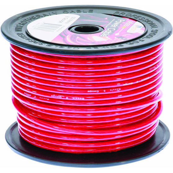 Aerpro Power Cable - 8 AWG, Red, , scaau_hi-res