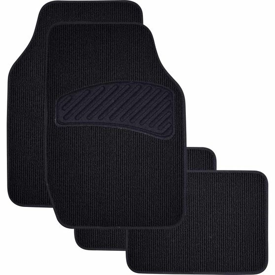 SCA Loop Pile Floor Mats - Carpet, Black, Set of 4, , scaau_hi-res