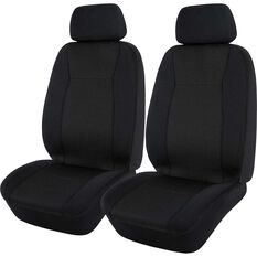 SCA Jacquard Seat Covers - Black, Adjustable Headrests ,Airbag Compatible, , scaau_hi-res