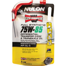 Nulon EZY-SQUEEZE Differential, Transfer Case & Transaxle Oil 75W-85 1 Litre, , scaau_hi-res