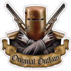 Hot Stuff Sticker - Ned Kelly Original Outlaw, Vinyl, , scaau_hi-res