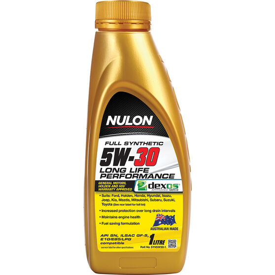 Nulon Full Synthetic Long Life Engine Oil 5W-30 1 Litre, , scaau_hi-res