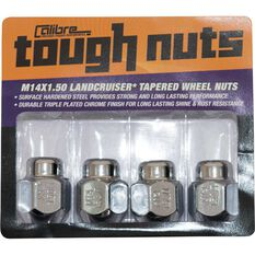 Calibre Wheel Nuts - Tapered, Chrome ,For Toyota Landcruiser - 5 Stud, SN14150LC, 14mm x 1.5mm, , scaau_hi-res