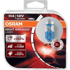 Osram Headlight Globe, Night Breaker, Laser Plus 130 - H4, 12V, 60 / 55W, , scaau_hi-res