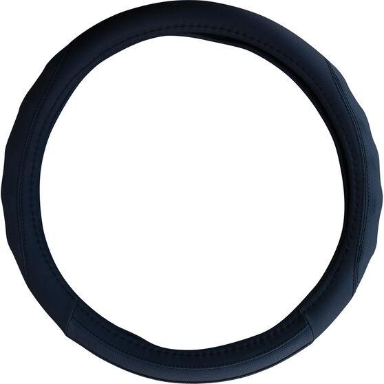 SCA Steering Wheel Cover - PU Racing, Black, 380mm diameter, , scaau_hi-res