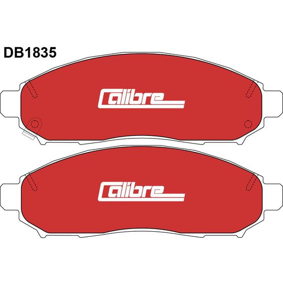Calibre Disc Brake Pads - DB1835CAL, , scaau_hi-res