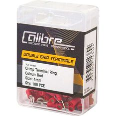 Crimp Terminal Ring Red 4mm 100Pk, , scaau_hi-res