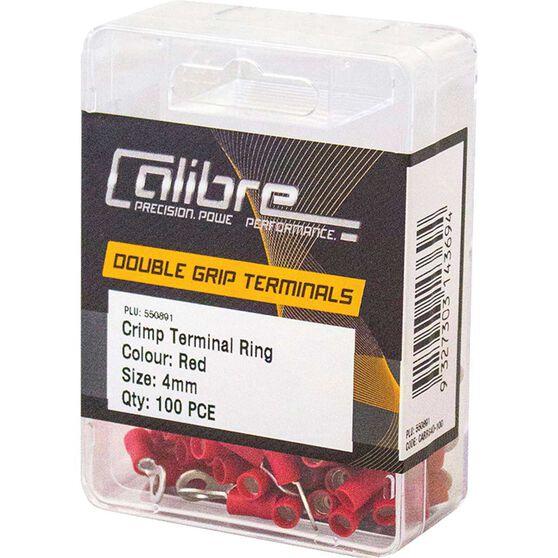 Crimp Terminal Ring Red 4mm 100Pk, , scaau_hi-res