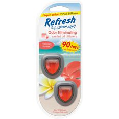 Refresh Air Freshener, Mini, Diffusers - Hawaiian Sunrise, 2 Pack, , scaau_hi-res