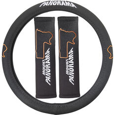 Bathurst Steering Wheel Cover & Seat Belt Buddies - Mount Panorama, , scaau_hi-res