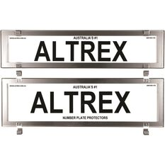 Altrex Number Plate Protector - Clear NSW Chrome, , scaau_hi-res