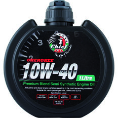 Chief Cherokee Engine Oil - 10W-40 1 Litre, , scaau_hi-res