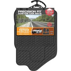Precision Fit Custom Rubber Floor Mats 3 Pack - Suits Toyota Camry 4Dr Sedan 2012+, Black, , scaau_hi-res