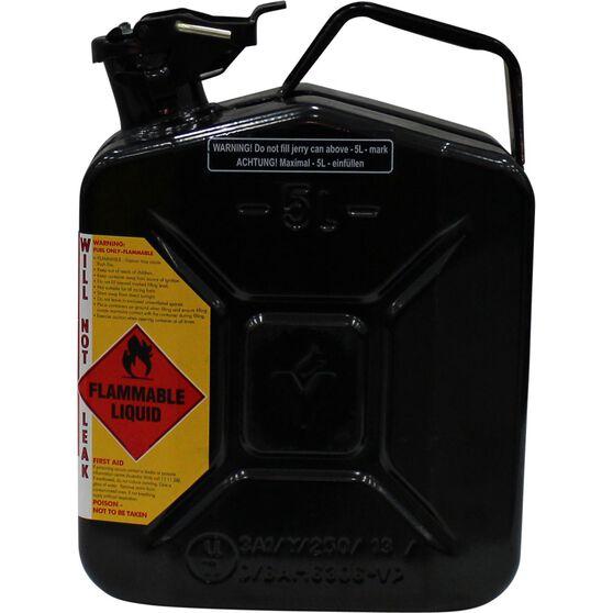 Pro Quip Metal Oil Jerry Can - Black, 5 Litre, , scaau_hi-res