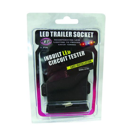 Trailer Socket - 7 Pin Flat, LED, , scaau_hi-res