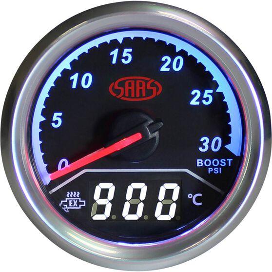 SAAS Dual Diesel Boost / Exhaust Temperature Trax Gauge - Black
