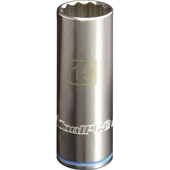 ToolPRO Single Socket - Deep, 1 / 2 inch Drive, 19mm, , scaau_hi-res