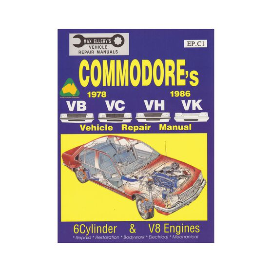 Ellery Car Manual For Holden Commodore 1978-1986 - EP.C1, , scaau_hi-res