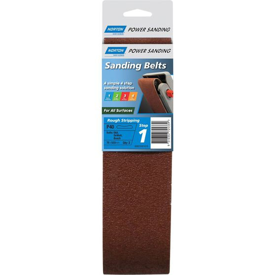 Norton Sanding Belt 40 Grit 2 Pack, , scaau_hi-res