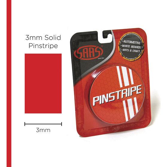 SAAS Pinstripe Solid Red 3mm x 10m, , scaau_hi-res