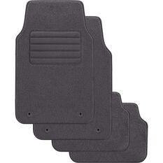 SCA Optimum Car Floor Mats - Carpet, Grey, Set of 4, , scaau_hi-res