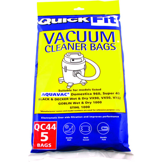 Quick Fit Vacuum Bags - 25 Litre, 5 Pack, , scaau_hi-res