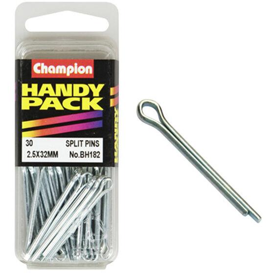 Champion Split Pins - 2.5mm X 32mm, BH182, Handy Pack, , scaau_hi-res