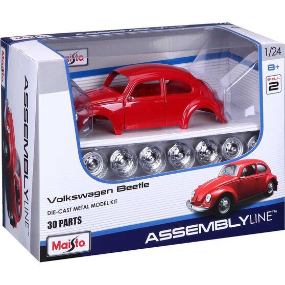 Die Cast, Assembly model; Volkwagen Beetle - 1:24 scale model, , scaau_hi-res