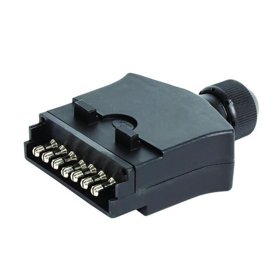 KT Cable Trailer Plug, Plastic - Flat, 7 Pin, , scaau_hi-res