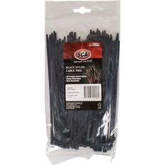SCA Cable Ties - 200mm x 4.8mm, 100 Pack, Black, , scaau_hi-res