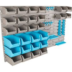 Multifunction Plastic Organiser System - 44 Piece, , scaau_hi-res