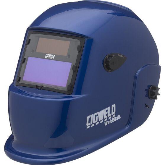 Cigweld Adjustable Auto Shade Welding Helmet - Shade 9-13, Blue, , scaau_hi-res