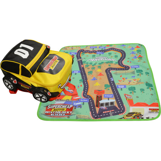 SCA Race Car Backpack with play mat, , scaau_hi-res
