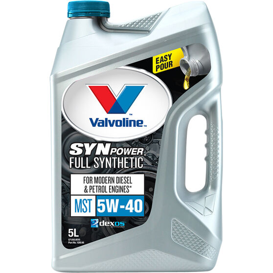 Valvoline Synpower MST Engine Oil - 5W-40 5 Litre, , scaau_hi-res
