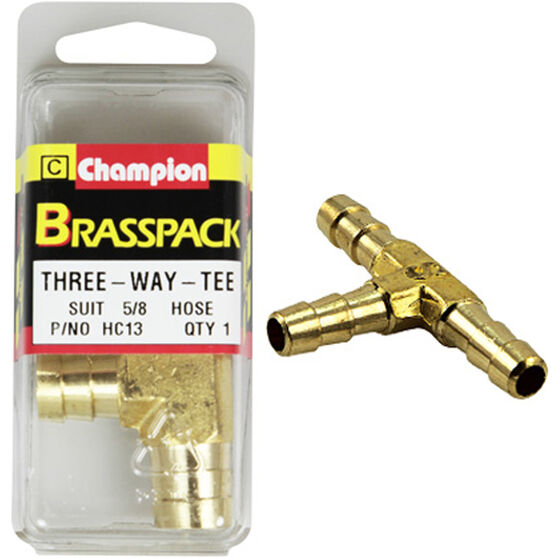 Champion T Pieces - 5 / 8inch, Brass, , scaau_hi-res