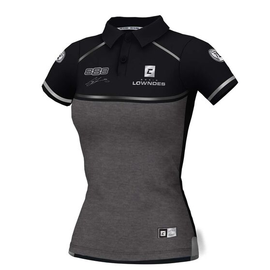 Craig Lowndes Women's 2020 Signature Series Polo, Black, scaau_hi-res