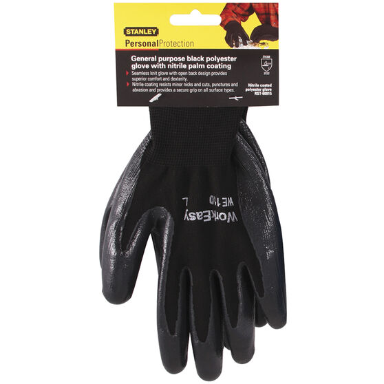Stanley Work Gloves - Nitrile, Large, , scaau_hi-res