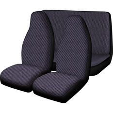 SCA Escort Seat Cover Pack - Grey Built-In Headrests Front Pair and Rear Airbag Compatible, , scaau_hi-res
