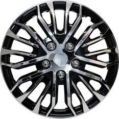 Street Series Wheel Covers - Plasma 14in, Black / Chrome, 4 Pack, , scaau_hi-res