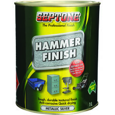 Septone Paint Hammer Finish - Metallic Silver, 1 Litre, , scaau_hi-res