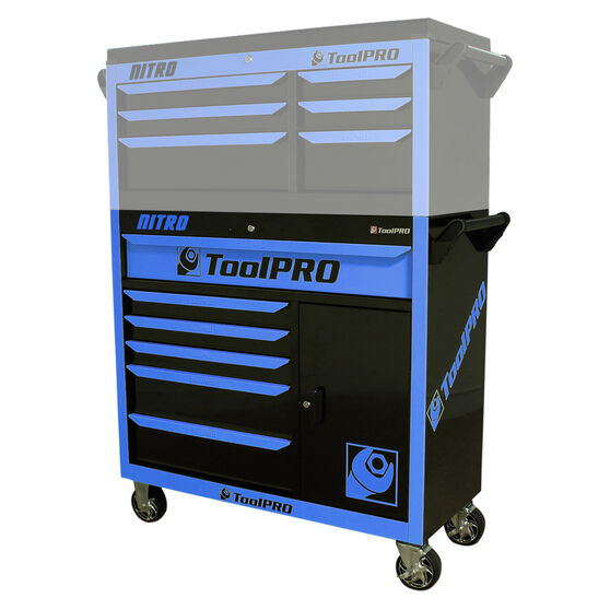 ToolPro Neon Tool Cabinet, 6 Drawer, Roller Cabinet - Nitro 42 inch, , scaau_hi-res