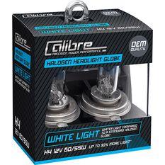 Calibre Headlight Globes - H4, 12V, 60/55W, White Light, , scaau_hi-res