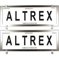 Altrex Number Plate Protector - 6 Figure Clear Chrome, , scaau_hi-res