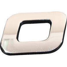 SCA 3D Chrome Badge Letter O / Number 0, , scaau_hi-res