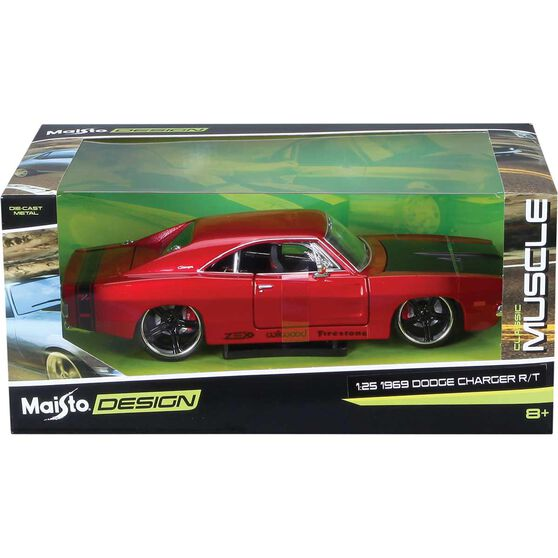 Die Cast 1969 Dodge Charger 1:24 Scale Model, , scaau_hi-res