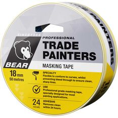 Trade Painters Masking Tape - 18mm x 50m, , scaau_hi-res